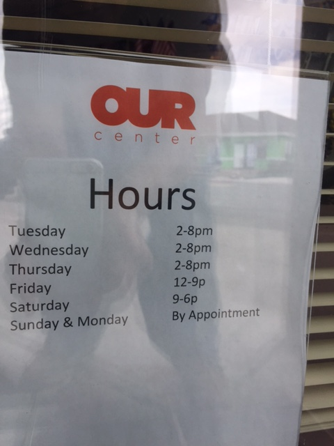 OUR Center Hours