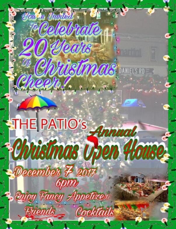 Patio 20th Christmas Open House